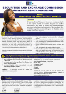 SECURITIES AND EXCHANGE COMMISSION UNIVERSITY ESSAY COMPETITION
